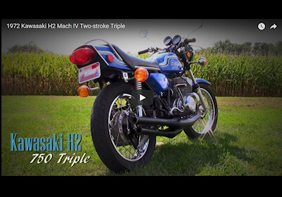 1972 Kawasaki H2 Mach IV Two-stroke Triple Video